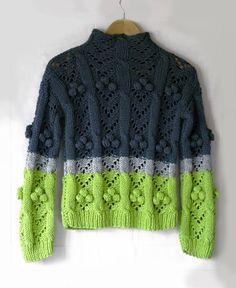 Lime green grey sweater handmade Light green gray jumper