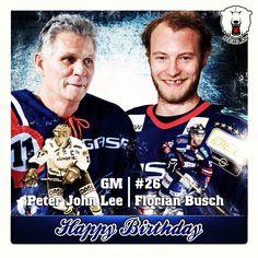 Am heutigen Donnerstag feiern gleich zwei Eisbären ihren Geburtstag - zum einen Manager Peter John Lee und zum anderen Stürmer Florian Busch. Wir wünschen auf diesem Wege alles Gute und viel Erfolg weiterhin. #bestwishes #happybirthday #58 #peter #john #lee #gm  #eisbaeren #berlin #29 #florian #busch #stuermer #del #hockey #26 #2013 #january #2 #germany #berlin #champion2013