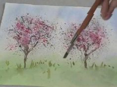 Watercolor Lessons - Tree Techniques 3, Frank M. Costantino - YouTube