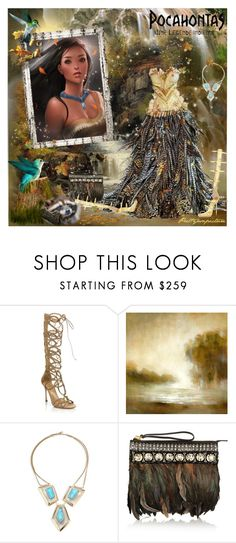 """""""Pocahontas"""" by prettyasapicture ❤ liked on Polyvore featuring Sergio Rossi, Leftbank Art, Alexis Bittar, Marni and Giuseppe Zanotti"""