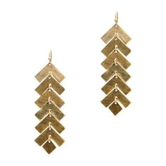 $20.00 Angie Earrings  The geometry in these earrings is worthy of a prize. The gold angles shimmer and move with every turn of the head.