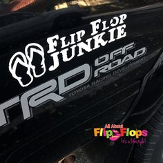 Our Flip Flop Junkie Decal shows your love for our fav footwear! www.allaboutflipflops.com