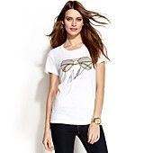 MICHAEL Michael Kors Petite Short-Sleeve Graphic Tee