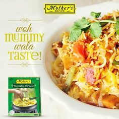 Missing home? Beat the blues with Mother's Recipe ready-to-cook vegetable biryani mix!
