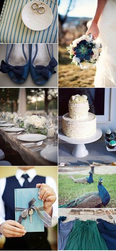 Peacock wedding inspiration