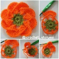 Coisinhas da Renata: Linda Flor em Crochê com Pap....