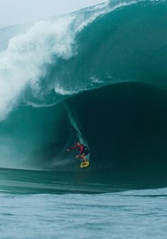 Surfing Teahupoo, the most dangerous big wave on Earth. ~ Tahiti