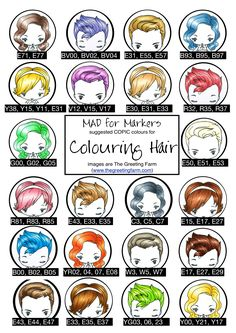 Copic - Hair colors