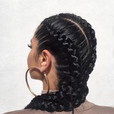 50 goddess braids hairstyles elaborate goddess braid new hairstyles Cornrows, Pigtail Braids, Pretty Hairstyles, Braided Hairstyles, Goddess Hairstyles, Hairstyles Videos, Hair Colorful, Curly Hair Styles, Natural Hair Styles