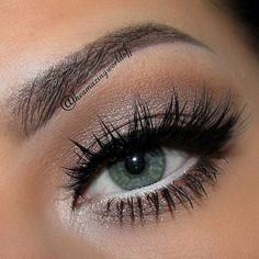 Light silver shadow with white liner to brighten your eyes