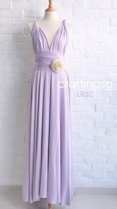 Bridesmaid Dress Infinity Dress Lilac Floor Length by craftingsg, $50.00