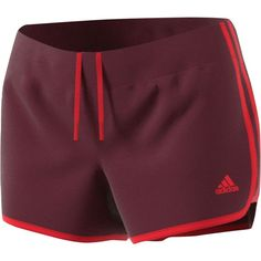 Adidas M10 Woven 3-Stripes Short ($28) ❤ liked on Polyvore featuring shorts, adidas, striped shorts, adidas shorts, stripe shorts and woven shorts