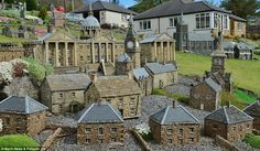 Retired builder Lowson Robinson has built three villages and towns in his garden