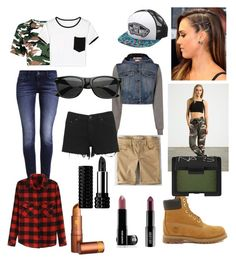 """""""Practice/Airport Fashion: Checkmate"""" by snhhpurplearts on Polyvore featuring Timberland, Levi's, Sans Souci, Moschino, Vans, Boohoo, American Eagle Outfitters, WithChic, Lord & Berry and Edward Bess"""
