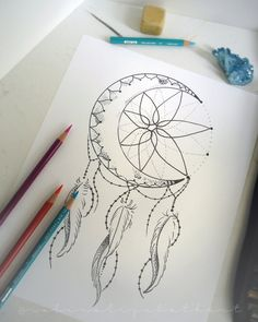 Crescent moon dream catcher coloring page by robinelizabethart dream catcher mandala, dream catcher tattoo, Dream Catcher Coloring Pages, Dream Catcher Drawing, Dream Catcher Tattoo Design, Dream Catchers, Atrapasueños Tattoo, Tattoo Line, Side Thigh Tattoos, Side Tattoos Women, Unique Tattoos