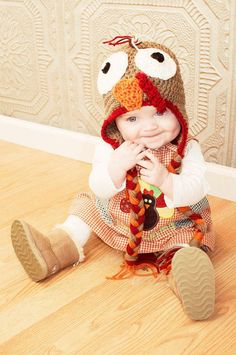 Turkey hat thanksgiving hat fall hat photo prop by ThingyThingz, $16.00
