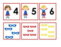 Freebie: In this activity students will match the number cards to the card with the correct number of masks. (Print on card stock. Superhero Preschool, Superhero Classroom Theme, Preschool Classroom, Classroom Themes, Kindergarten, Super Hero Activities, Preschool Activities, Early Years Maths, Math Night