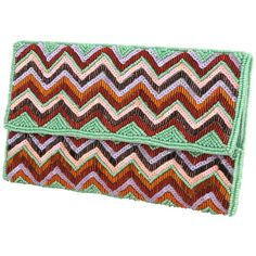 Embellished Tribal Clutch ($28) ❤ liked on Polyvore