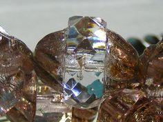 TURBINE Transparent Picasso Czech Glass Turbine Beads by BeadKnead, $2.25
