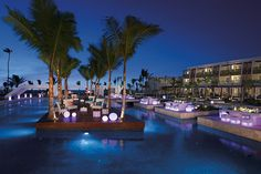 Enjoy a gala dinner by the Preferred Club adults-only pool at Now Onyx Punta Cana!