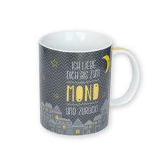 Wortheld Tasse »Mond«Das stilvolle Design und die wunderschöne Liebeserklärung machen diese süße Tasse zu einem ganz besonderen Liebesgeschenk, das garantiert mitten ins Herz trifft! http://shop.sheepworld.de/shop/Wortheld/Wortheld-Mond/Tasse-Mond.html