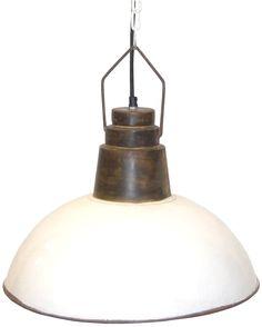 Fabrikslampa vintage - vit och järn i gruppen Lampor / Taklampor hos Reforma Sthlm  (INDS-208)