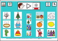 MATERIALES - Tableros de Comunicación de 12 casillas.    Tablero de comunicación de doce casillas sobre el invierno.    http://arasaac.org/materiales.php?id_material=224