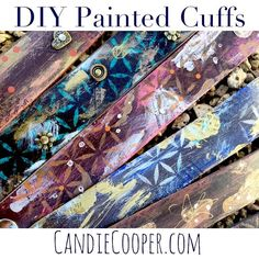How to paint and embellish leather cuff bracelets - A tutorial from Candie Cooper featuring leather cuffs from Leather Cord USA