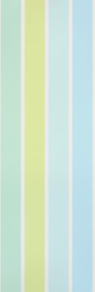 Aqua Blue and Lemongrass striped wallpaper from Designers Guild available through www.janehalldesign.com
