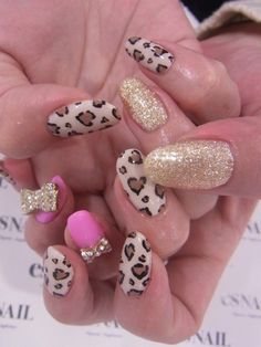 Leopard pink gold