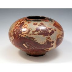 """SyFi Marble"" pot with marble pattern by Paradox Pottery"