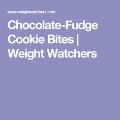 Chocolate-Fudge Cookie Bites | Weight Watchers
