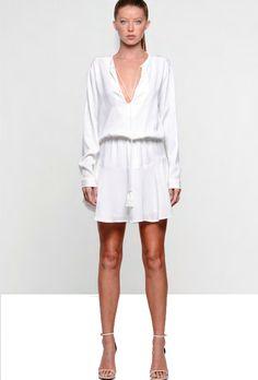 c99421c3ecbc boutique flirt - Karina Grimaldi Pilar Solid Mini Dress White