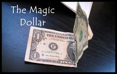 A fun simple science experiment to do with your kids using a dollar and a magnet.