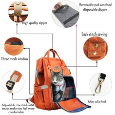 Pet Carrier Backpack for Cats and Small Dogs Ventilated Design Hold Pets up to 12 LBS for Travel Hiking and Cycling Orange *** Take a look at this great product. (This is an affiliate link). Pet Travel, Travel Backpack, Cat Carrier, Small Dogs, Baby Blue, Louis Vuitton Damier, Carry Bag, Cycling, Image Link