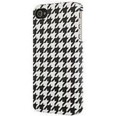 Venom Communication 5031300075554 Smartphone Case for iPhone 4 - Houndstooth - Black, White