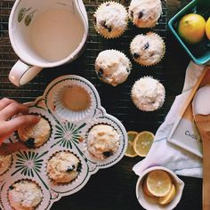 Blueberry lemon glaze muffins