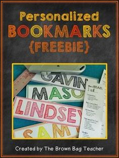 {FREEBIE} Make-Your-Own Personalized Bookmarks!