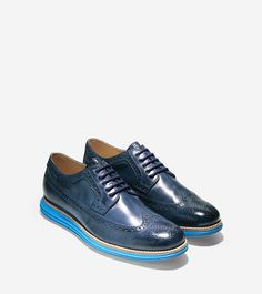 Mens Cole Haan Hammond Wing Oxford Oxfords Shoes Blazer Blue JGR45615