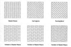 basketweave subway tile variation
