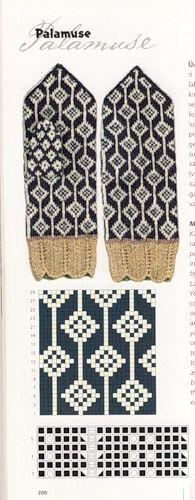 Palamuse mitten pattern from Estonia