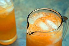 a refreshing drink #agua fresca made with #cantaloupes #musk melons