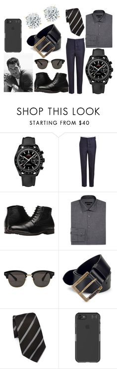 """311.92.44.51.01.003 Omega Speedmaster Moonwatch"" by authenticwatches ❤ liked on Polyvore featuring AMI, Nunn Bush, John Varvatos * U.S.A., Gentle Monster, Diesel, Giorgio Armani, Under Armour, men's fashion and menswear"