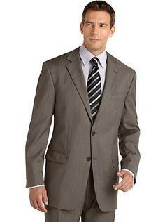 Geoffrey Beene Taupe Multistripe Suit from Men's Wearhouse. Buy 1, Get 1 FREE!