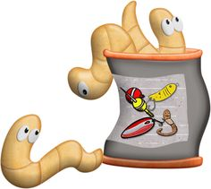 View album on Yandex. Fish Cartoon Drawing, Worm Drawing, Cartoon Drawings, Fishing Worms, Gone Fishing, Fish Clipart, Cute Clipart, Cartoon Monsters, Worm Farm