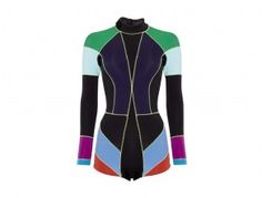 I don't even surf but this GOOP/Cynthia Rowley multi-colored wetsuit makes me want to learn!