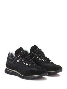 PACIOTTI 4US - Sneakers - Uomo - Sneaker in camoscio, pelle e tessuto con suola in gomma light. Tacco 30, platform 15 con battuta 15. - NERO