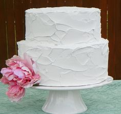 --- same idea - just real....2 cakes 2 tier and 6x4 rosette reserved for  by TheFakeCupCakery