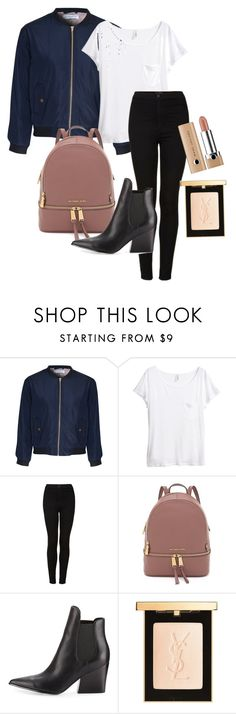 """day outfit three"" by emma-495 on Polyvore featuring Glamorous, H&M, Topshop, Kendall + Kylie and Yves Saint Laurent"