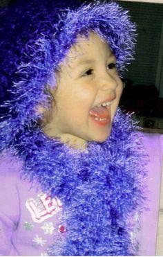 Girls Crochet scarf and hat  Toddlers Crochet by InspiredbyNancy